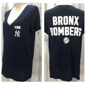 Yankees PINK Victoria's Secret Boyfriend T Shirt